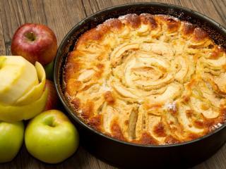 обои Яблочный пирог и яблоки фото