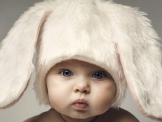 обои Малыш в шапке с ушками фото