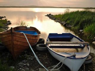 обои Две лодки на озере фото