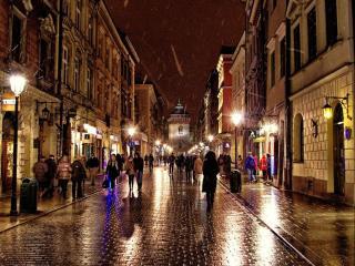 обои Вечерний Краков. Польша фото