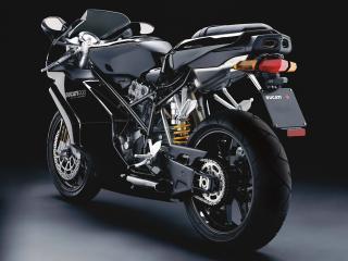 обои Черный спортивный Ducati фото