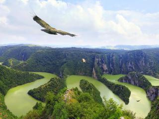обои Изрезанный каньон с высоты полета фото