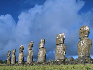 обои Идолы с острова Пасхи фото