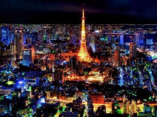 обои Огни ночного Токио. Япония фото