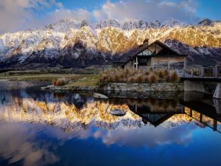 обои Озеро Уакатипу. Куинстаун. Новая Зеландия фото