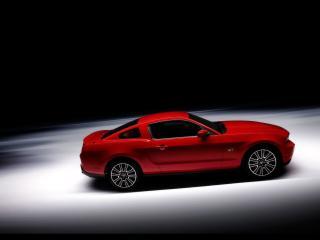 обои Красный Форд Мустанг фото