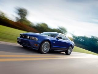обои Ford - Mustang - 2010 на трассе фото