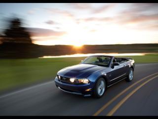 обои для рабочего стола: Ford - Mustang на дороге