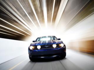 обои Ford - Mustang на скорости фото