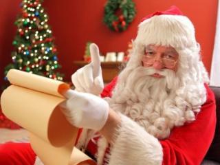 обои Санта Клаус в очках фото