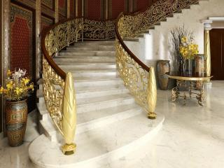 обои Позолоченая лестница на второй этаж фото