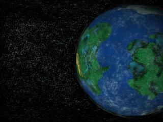 обои Земля и звёзды фото
