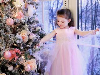 обои Маленькая новогодняя фея фото