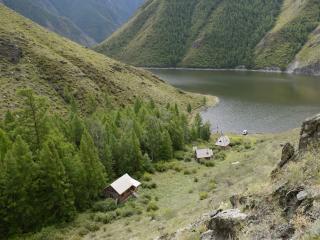 обои Бухта в Саянских горах фото