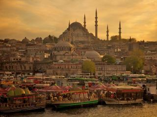 обои Завораживающий вечерний в Стамбуле фото