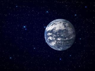 обои Земля среди звёзд фото