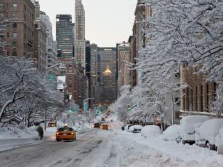 обои Зима в Нью-Йорке. США фото