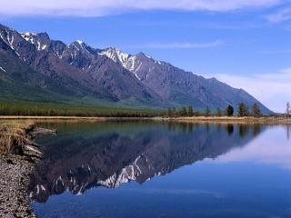 обои Горное озеро Байкал – гордость России фото