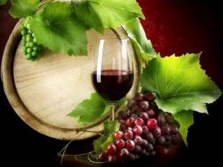 обои для рабочего стола: Натюрморт - Бочковое виноградное вино