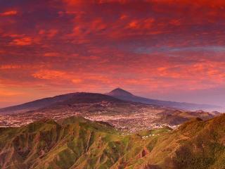 обои Закат над Тенерифе фото