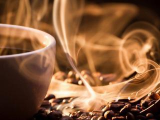 обои Аромат горячего кофе фото