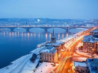 обои Зимний Красноярск фото