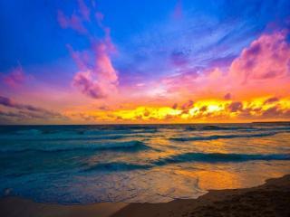 обои Красивый морской закат фото