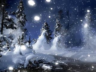обои Ночной снег фото