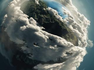 обои Планета в облаках фото