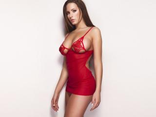 обои Красотка в красном платьице фото