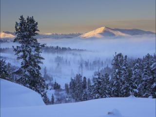 обои Горы,   снег и солнце фото
