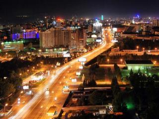 обои Ночной Новосибирск фото