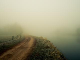 обои Дорога в туманную неизвестность фото
