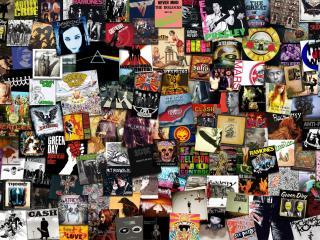 обои Обложки альбомов рок групп фото