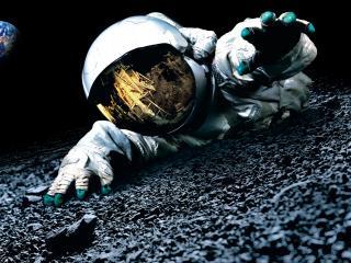 обои Астронавт во мгле фото