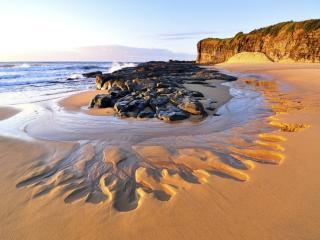 обои Море и песчаный берег фото