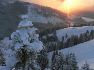 обои Сказка зимних гор фото