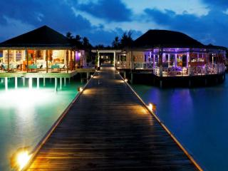 обои Вечер на острове атолла Ари. Мальдивы фото