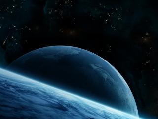 обои Восход величественной Земли фото