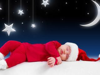обои Красный гномик сладко спит фото