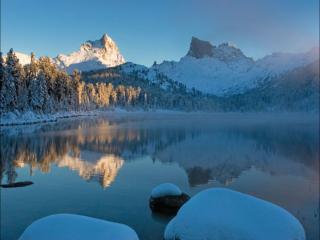 обои Зима в горах фото