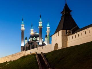 обои Казанский Кремль. Вечер фото