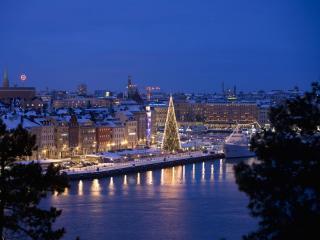 обои Ночной Стокгольм фото