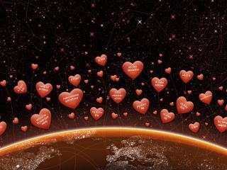 обои Лбовные пожелания в день святого Валентина фото