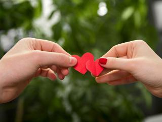 обои Соединение двух сердец фото