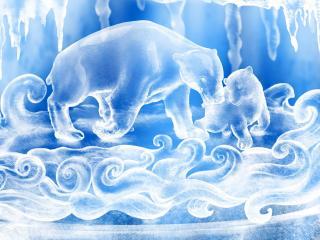 обои Ледовые медведи фото