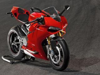 обои Красный мотоцикл фото