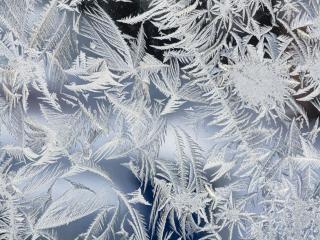 обои Морозный узор на стекле фото