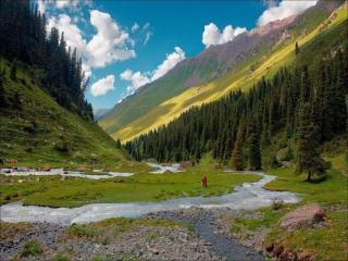 обои Долина в горах Тянь-Шань фото