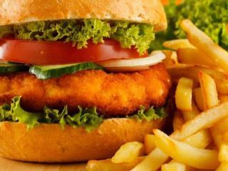 обои Гамбургер и картофель фото